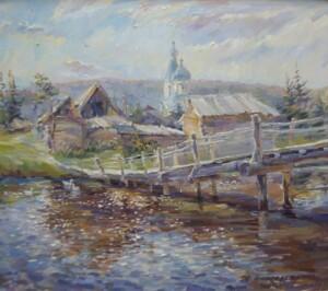 Деревенский пейзаж. Родная деревня. Кочергино