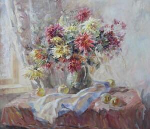 Яблочный Спас, холст, картина маслом