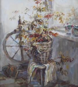 Осенний натюрморт, холст, масло, 2017